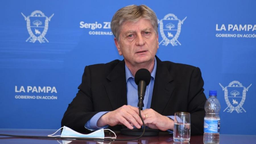 Sergio Ziliotto en conferencia de prensa