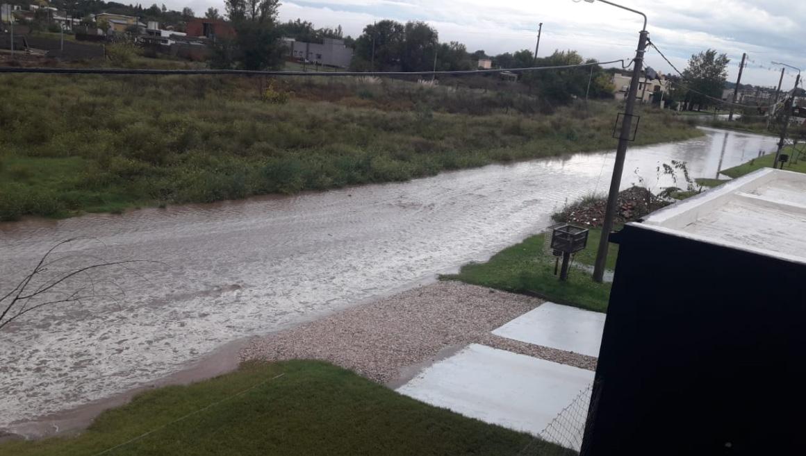 Inundaciones en Santa Rosa y Toay